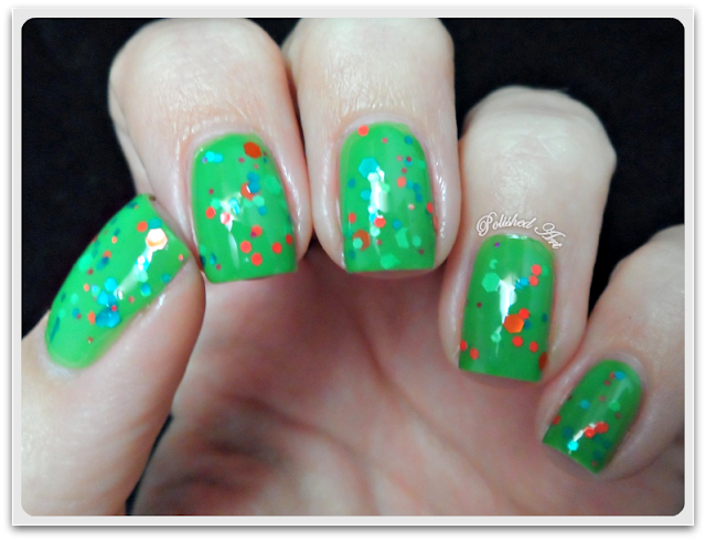 Femme-Fatale-Cosmetics-Lime-Thief-indie-glitter-swatch