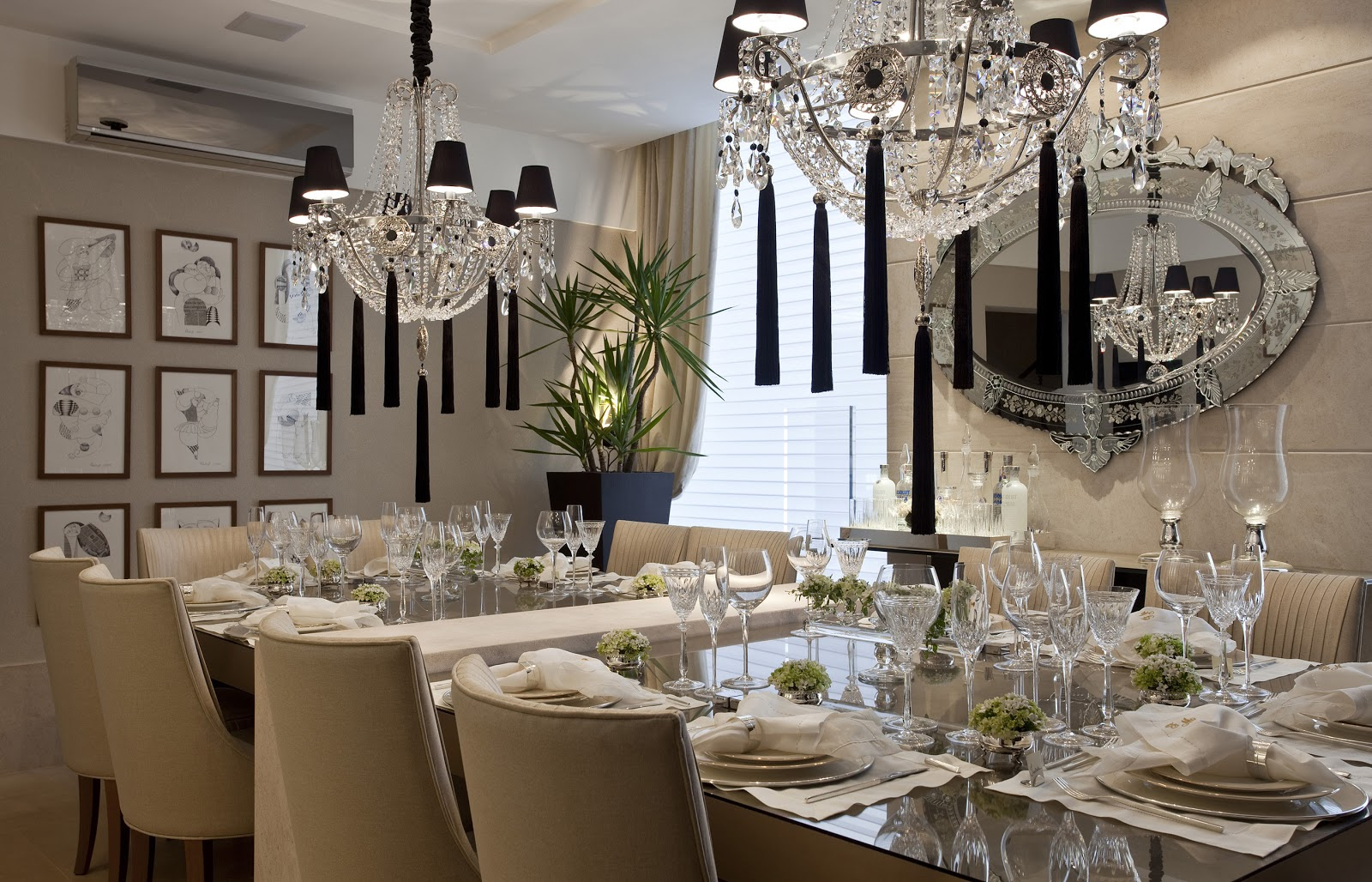 Sala De Jantar Zamarchi ~ Blog Estilo & Décor Salas de Jantar  Casa Cor