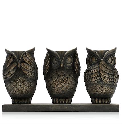High street homeware edit 3 - Hear no evil owls ceramic ...