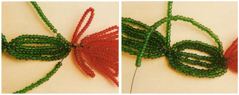 """Одним из них является язык  """"фенечек """"  """"фенек """" - браслетов из бисера. .  На рис. 2 представлена схема плетения сердечка..."""