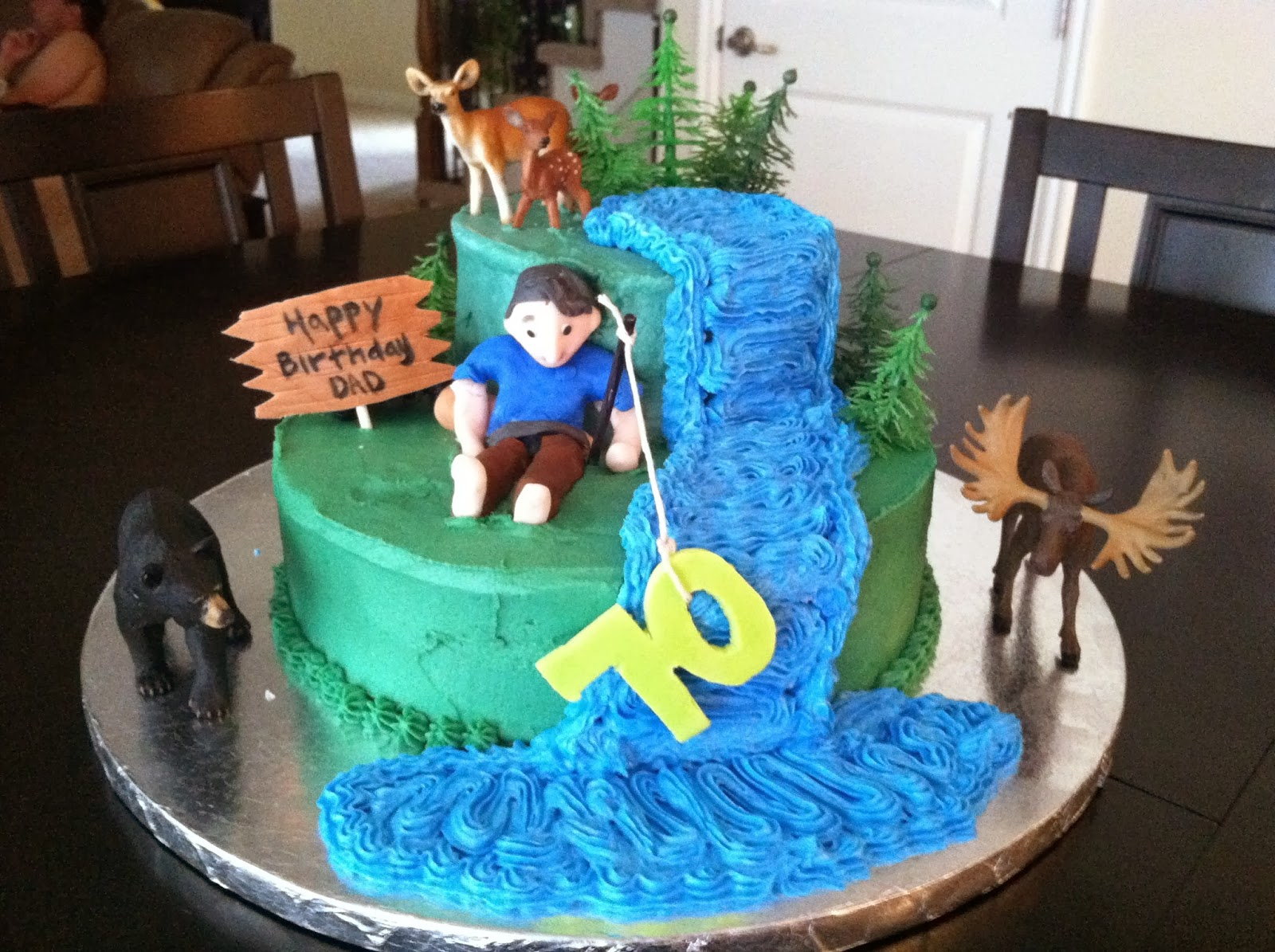 I Made This Cake For My Fathers 70th Birthday He Loves Everything Outdoors Think Really Fit His Personality Happy Dad