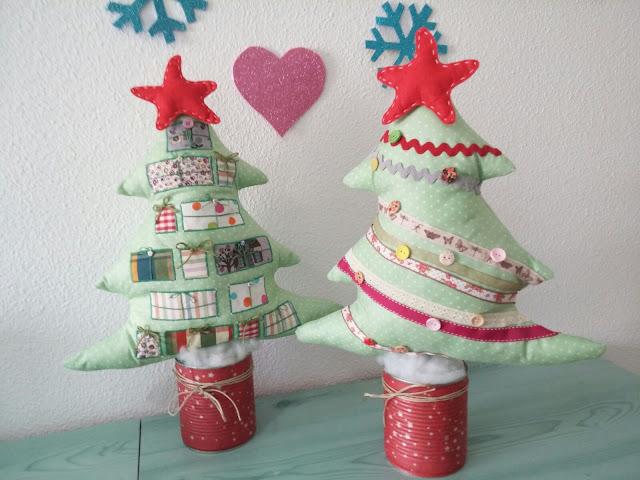 Árboles de navidad de tela