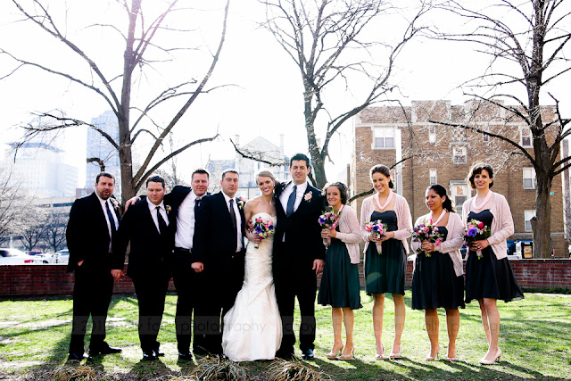 bridal party in downtown Indianapolis