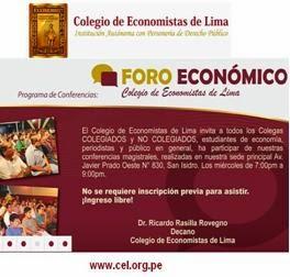 Conferencias Gratuitas en el Colegio de Economistas Lima - 2014