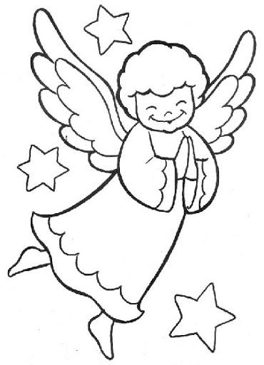 Dibujos Y Plantillas Para Imprimir Angelitos