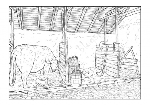 Printable Barn Coloring Pages