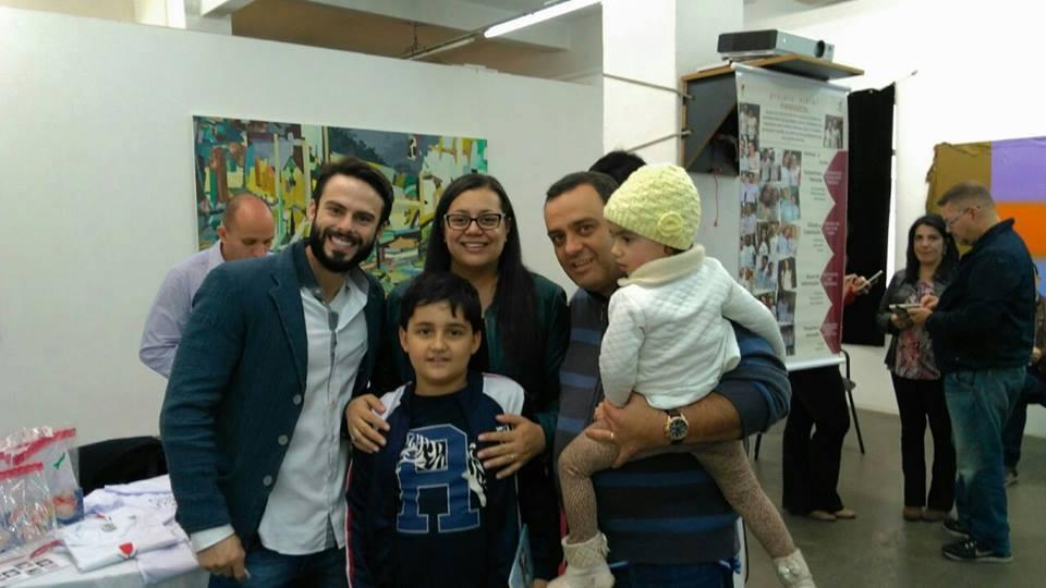 Raphael Montagner com Lucas, Fabiana, Luzi e Heloisa