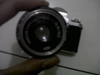 tampak depan lensa industar 50mm f/3.5