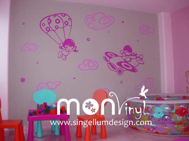 Vinilos decorativos monvinyl de singellum design s a s for Adhesivos decorativos infantiles