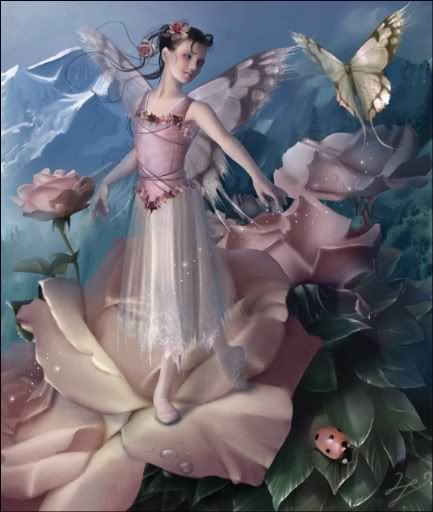 imágenes de hadas en rosas