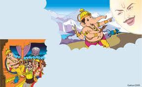 Lord Ganesh cusing Moon