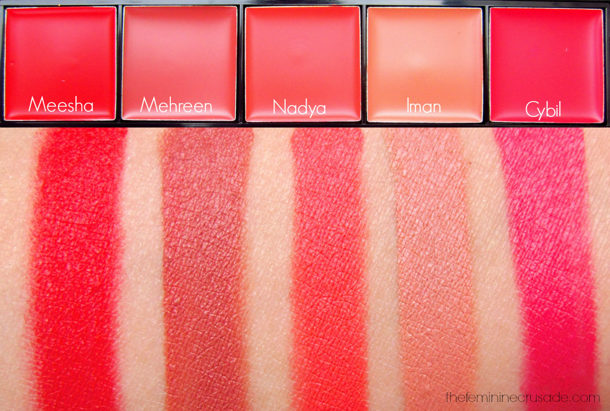 Luscious Ather Shahzad Master Lipstick Palette (swatches)