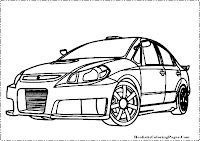 Suzuki SXForce coloring page