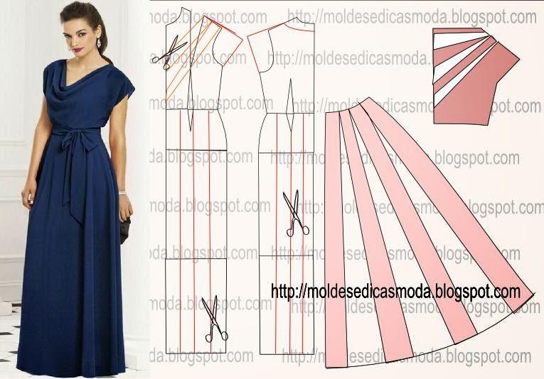 Пошив длинной платья