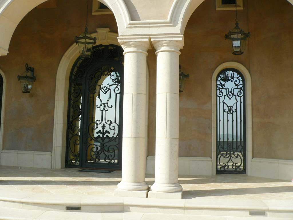 The elegant fa ade columns for Decorative columns