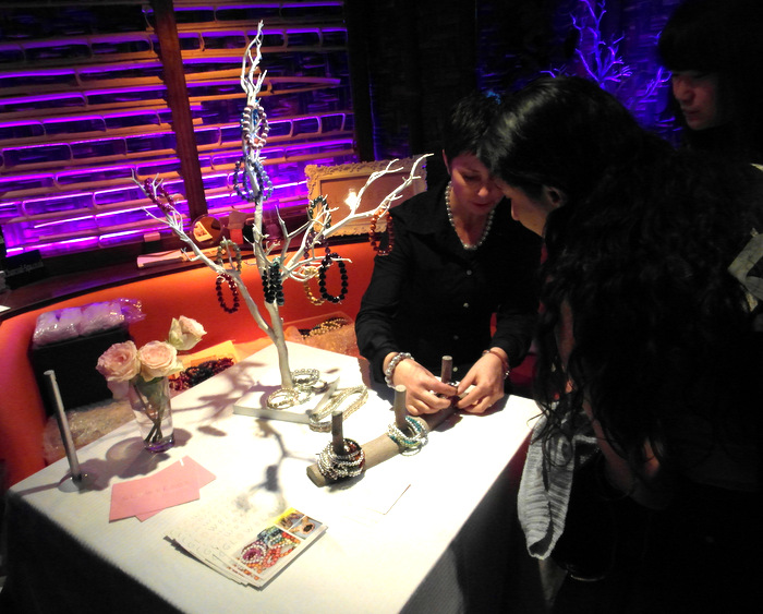 image of glow beads at Bloggers Love Hub Mahiki Covent Garden