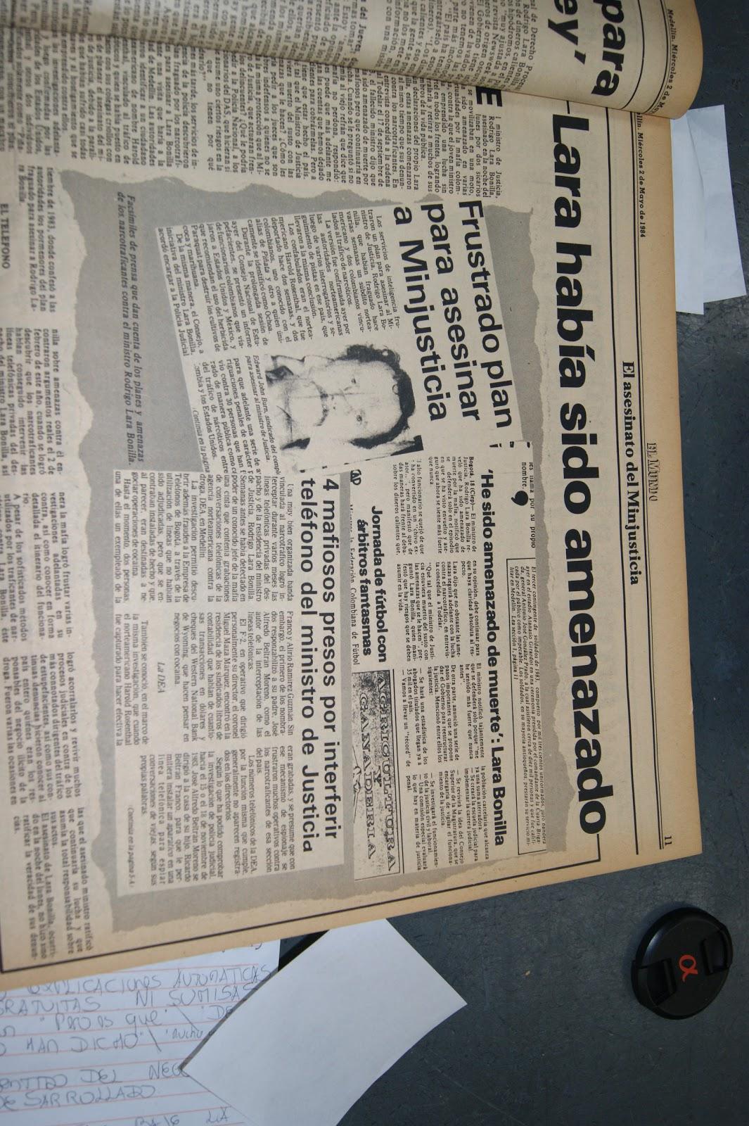 Proyecto Pablo Escobar: Planes de muerte para Rodrigo Lara Bonilla. 1983