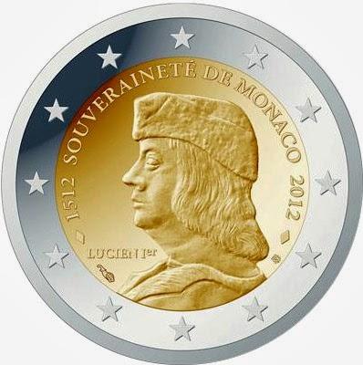 2 euro Monaco 2012, Monaco's Sovereignty by Lucien I Grimaldi