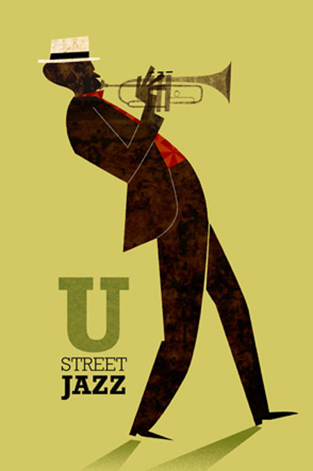 Jamey Christoph, ilustracion, illustration, washington, US, U street jazz