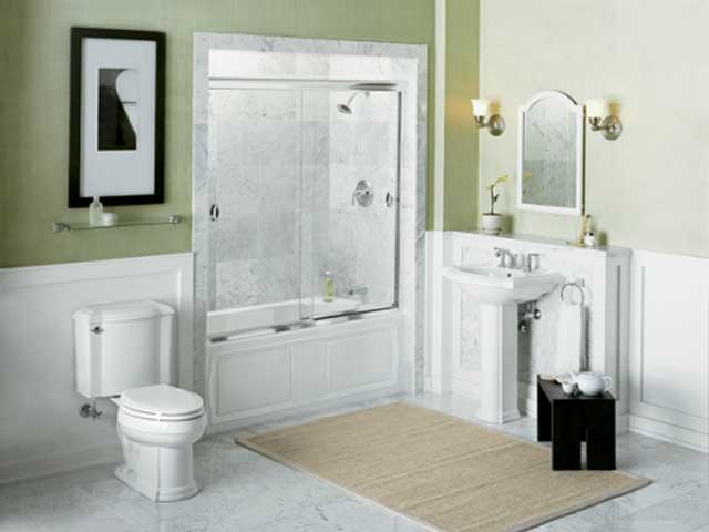 Small bathroom decorating ideas for Small lavatory ideas