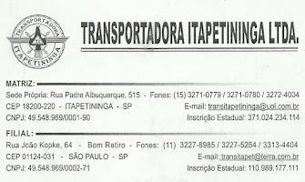 TRANSPORTADORA ITAPETININGA