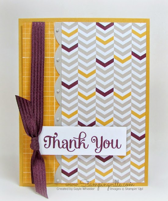 Stampingville: Easy, elegant thank you card #cardmaking #StampinUp #crafts