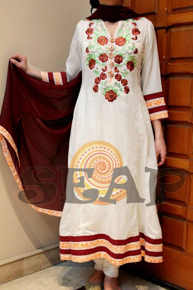 Seap Mid Summer Wear Collection 2014 For Women By Sanaa Arif