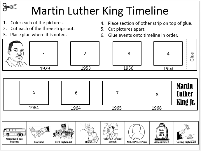 also have a 3 page fun pack in my store about Martin Luther King. It ...