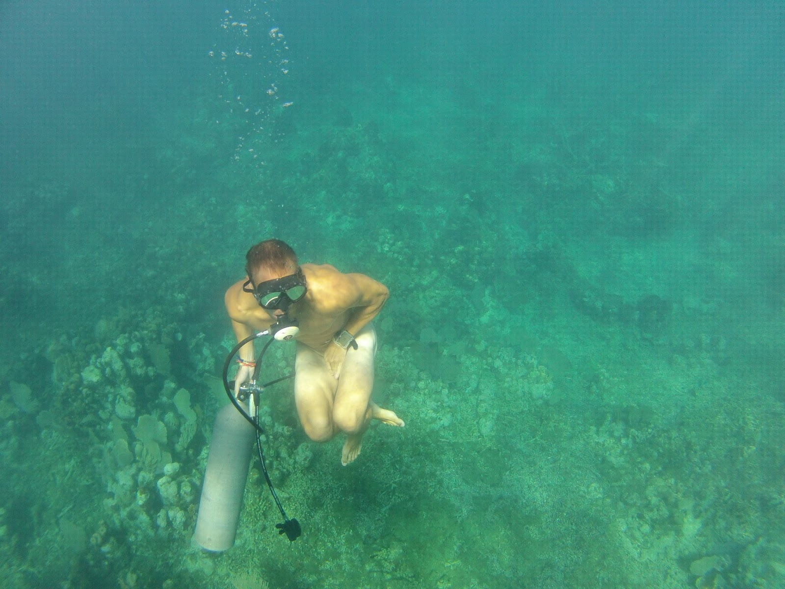 naked girls scuba diving