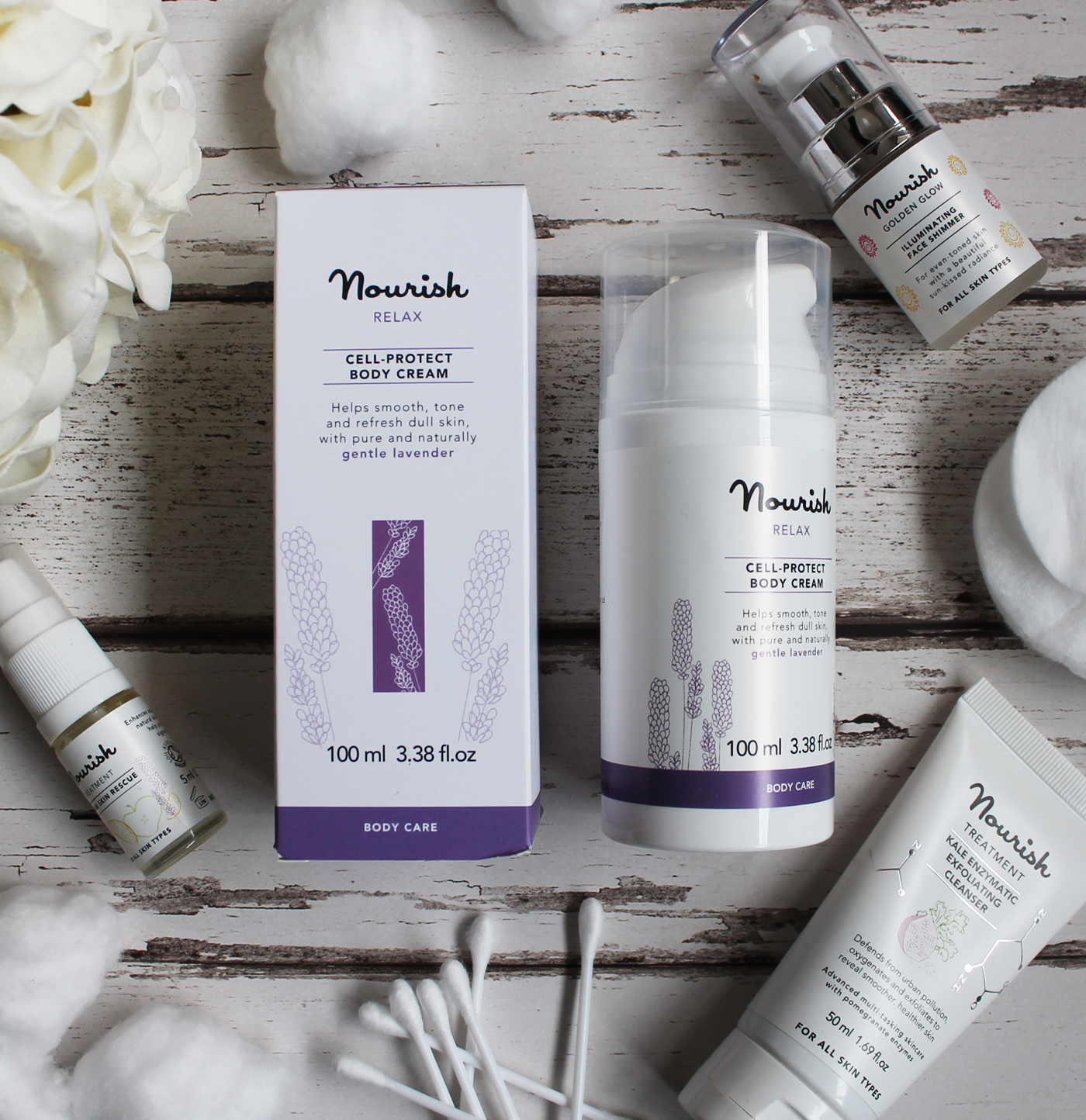 Nourish, Nourish relax cell protect body cream, Nourish Skincare