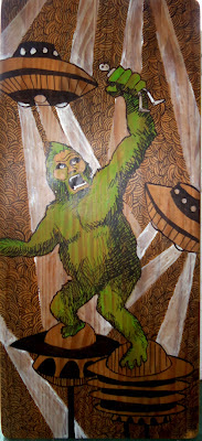 animal robot, robot animal, robot, robot painting, ape, ufo, king kong, Blair Menace