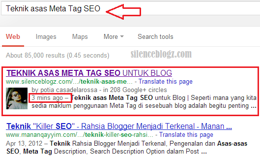 Teknik asas Meta Tag SEO untuk Blog