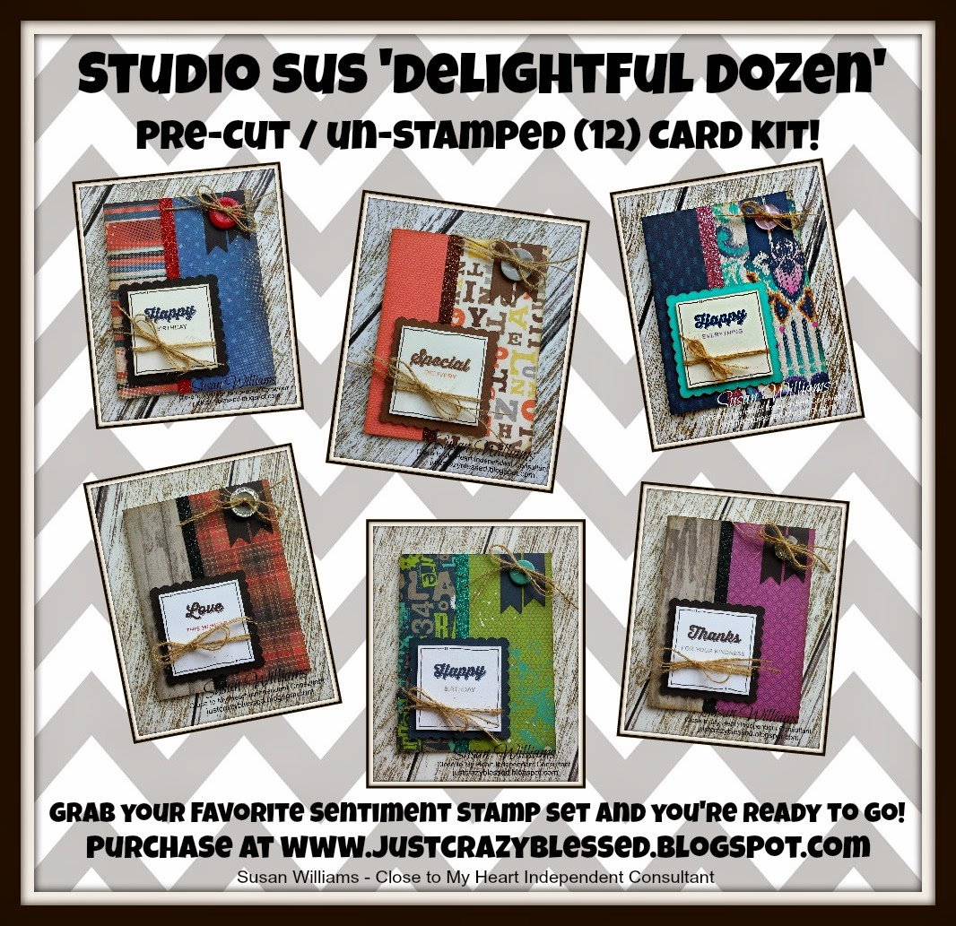 'Delightful Dozen' Pre-Cut (12) Card Kit!