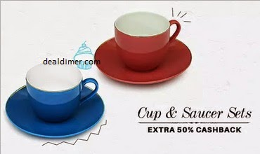 Cup & Saucer Sets Extra 50% Cashback