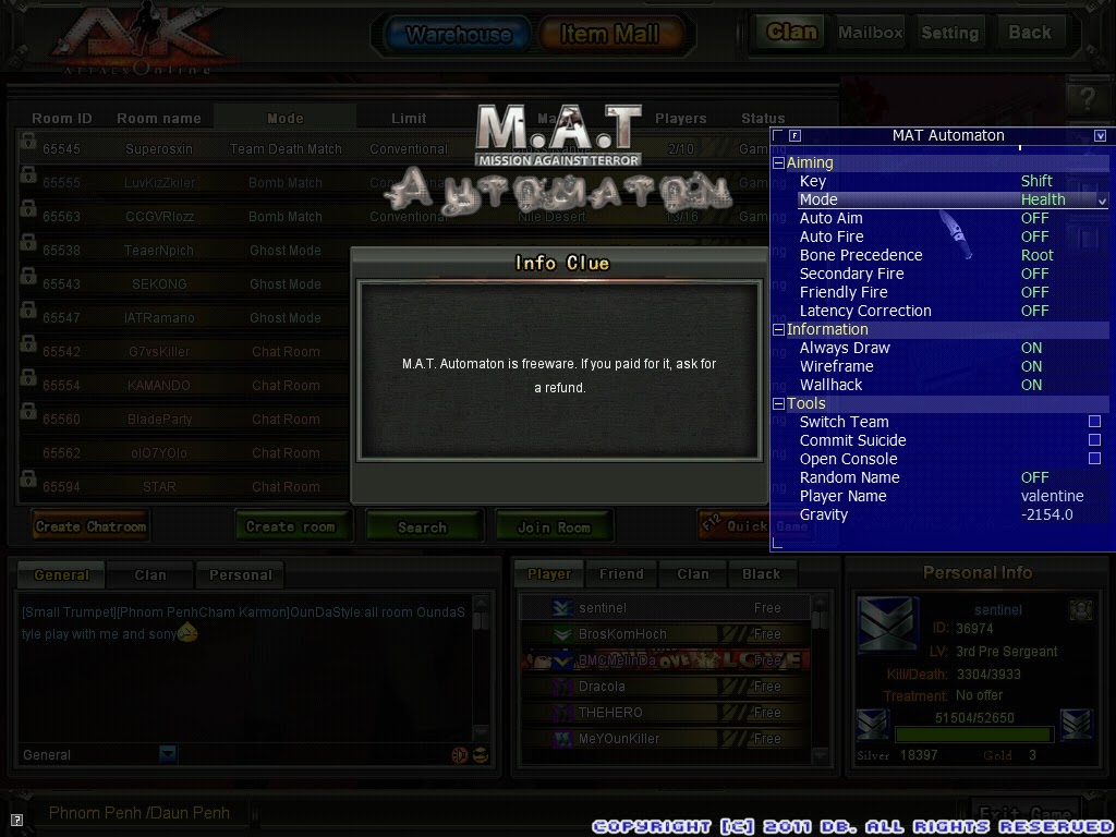 download hack ak online fly