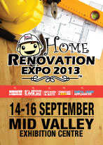 14 Sep 2013 Sat 16 Sep 2013 Mon Home Renovation Expo 2013