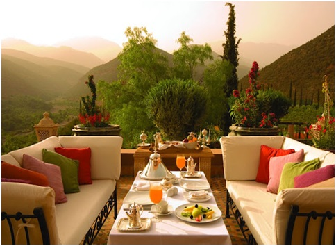 Moroccan terrace design and decoration