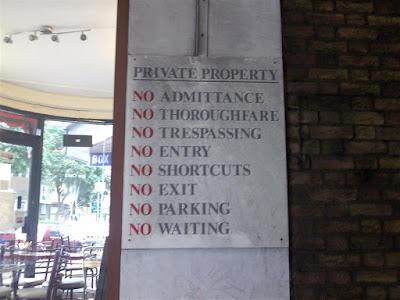 Prohibiciones (Londres - Inglaterra)