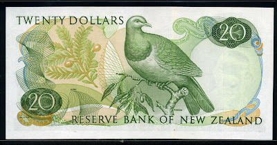 New Zealand currency 20 Dollars
