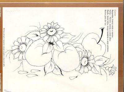 خطر لوحة النسيج مع التفاح والبابونج