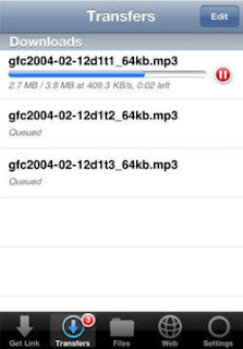 Filer File Downloads on iPhone