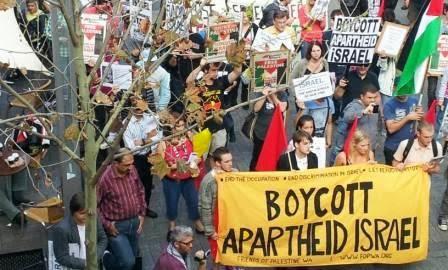 Manifestação de boicote ao apartheid de Israel