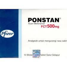 Ponstan , sebuah obat yang berkhasiat sebagai analgesik yang dimiliki ...