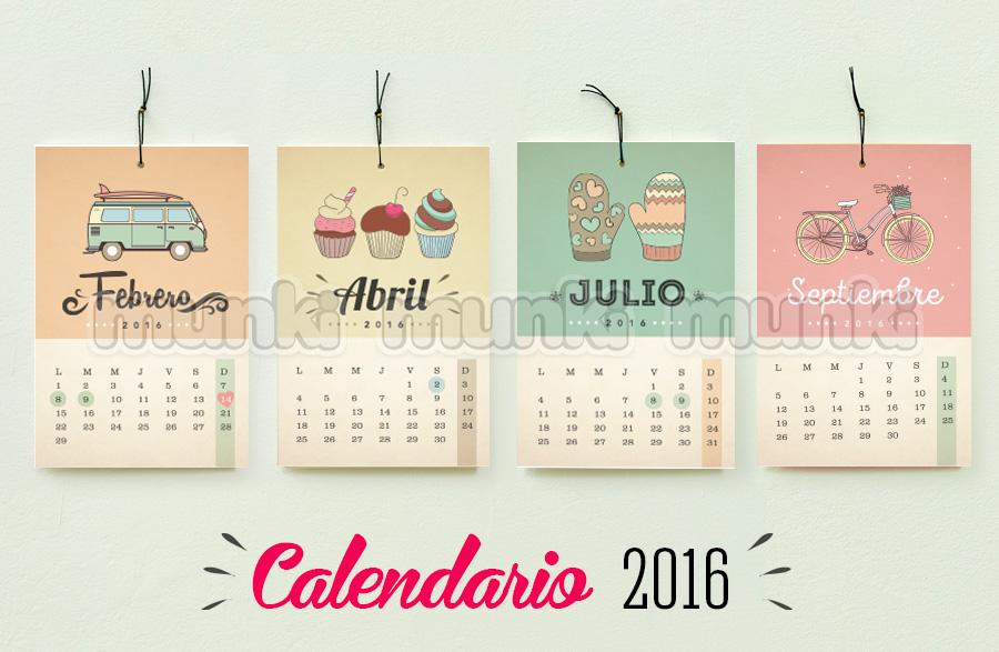 Calendarios de pin vintage