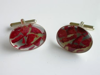 Flower petal cufflinks