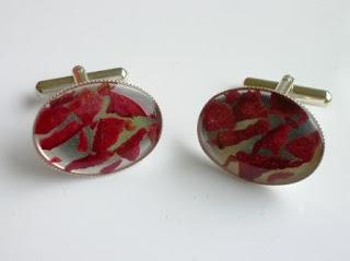 Flower petal cufflinks