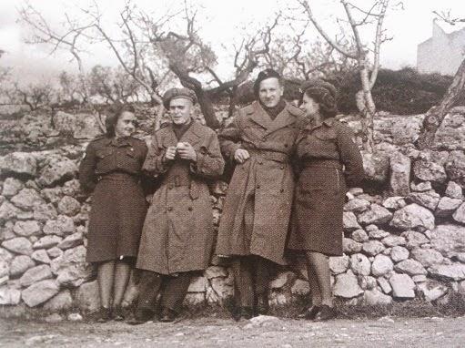 Alojzy Józekowski z żołnierzami AK - Włochy 1945