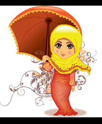 Kartun Muslimah Collection | Collection of Muslimah Cartoon
