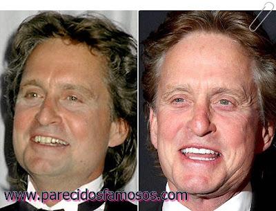 Michael Douglas antes y después
