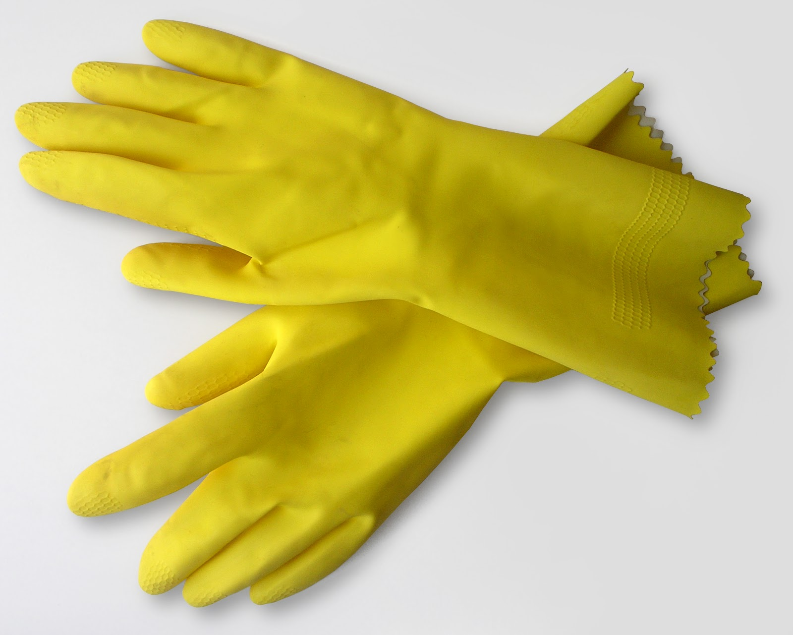 A yellow rubber gloves handjob for the pool boy 1